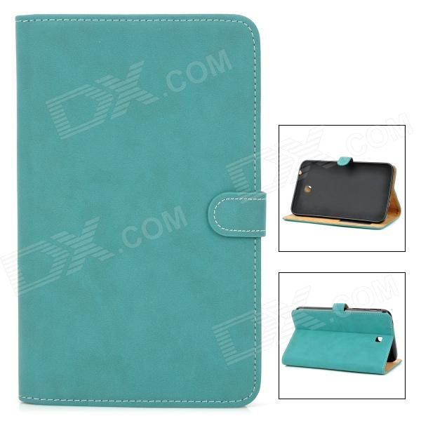 Stylish Protective PU Leather Case for Samsung Tab 3 T210 / P3200 - Blue Green tribal lines 360 rotating leather case for samsung t210 galaxy tab 7 0 3 p3200 green white
