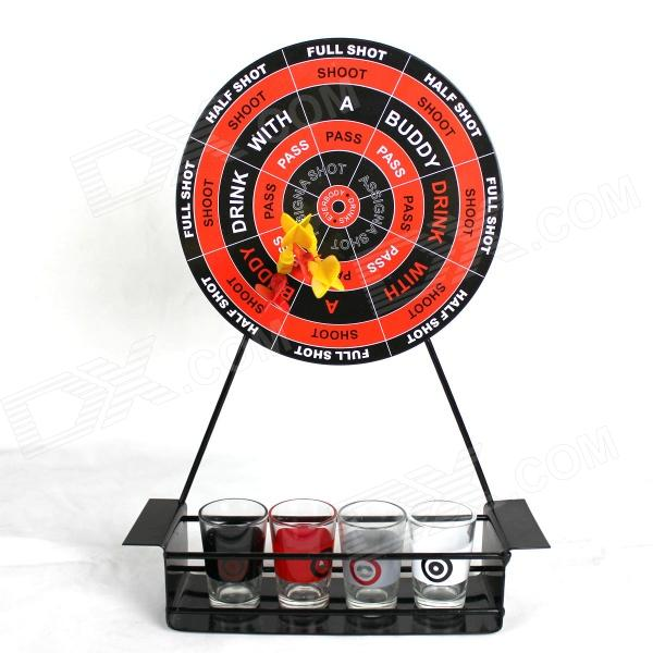 Desktop dart drinking games set - red + black...