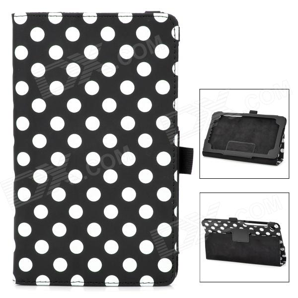 Polka Dot Style Protective PU Leather Case for Google Nexus 7 II - Black + White handpainted cactus and polka dot printed pillow case