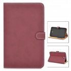 Retro Protective PU Leather Case for Samsung Tab 3 T210 / P3200 - Brown
