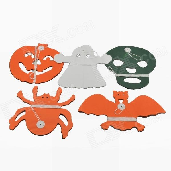 Halloween Paper Garland Set - Orange + Green + White