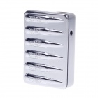 SHAYU Aluminum Alloy Bullet Pattern USB Rechargeable Lighter - Silver (5V)