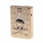 SHAYU Aluminum Alloy Skull USB Rechargeable Lighter - Gold + Red (5V)