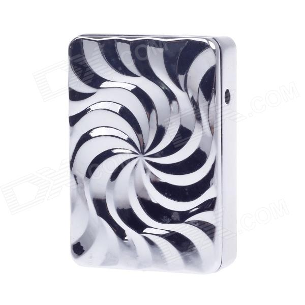 SHAYU Aluminum Alloy Vortex Pattern USB Rechargeable Lighter - Silver (5V)