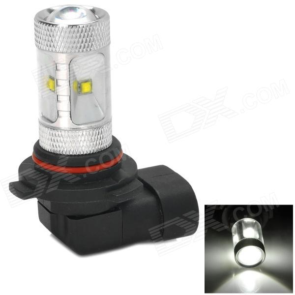 HUAJIAN Y-9006-30W 600lm 6500k White Light LED Car Headlamp w/ Cree XBD R3 - Silver + Black hj y h4 16w h4 600lm 6500k white light car headlamp w 6 cree xb d r3 silver 10 30v