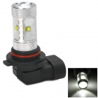 HUAJIAN Y-9006-30W 600lm 6500k Cree XBD R3 White Light LED Head Lamp for Car - Silver + Black
