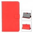 Stylish Protective PU Leather Case for Google Nexus 7 II - Red + Black