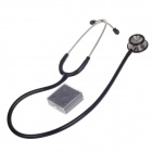Deng Guan DGT-004 High-Grade Stainless Steel Dual-Use Stethoscope - Black + Silver