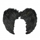 Halloween Kids Cosplay Fallen Angel Wings - Black