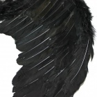Halloween barn Cosplay Fallen Angel Wings - svart