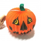 Halloween Paper Pumpkin Candle Lantern - Orange