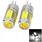 G4-5W-V-12V 5w 200lm 6500k G4 White Light LED Clearance Lamp Bead - Silver + Yellow (2 PCS)