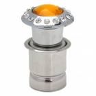 Stylish Crystal Decorated Handy Cigarette Lighter for Car - Silver + Yellow