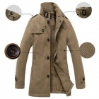 Fashionable Men's Jeanette Warm Jacket Overcoat - Khaki (Size XL)