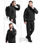 Free Soldier YRK218 Outdoor TAD Sharkskin Keep Warm Tactical Coat for Men - Black (XXL)