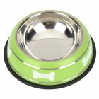 Doglemi Anti-slip Stainless Steel Bowl for Pet Dog / Cat + More - Silver + Black (150ml)