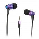 AWEI TE800i In-ear Earphones w/ Microphone for Samsung - Purple (120cm-Cable / 3.5mm Plug)