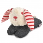 Doglemi DM50047 Rabbit Style Pet's Dog Cotton Toy w/ Sound - Red + Beige + Blue