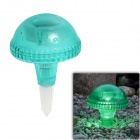 CMI LEH-41587G 1-LED White Solar Mushroom Light / Courtyard Lamp / Garden Light - Green
