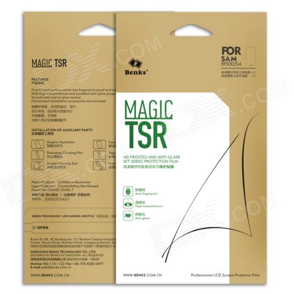 Benks Magic TSR HD Frosted and Anti-Glare Set Series Protection Film for Samsung Galaxy S4 i9500 remaking management between global and local