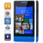 "H3039 MTK6572 Dual-Core Android 4.2.2 WCDMA Bar Phone w/ 4.0"" Capacitive / GPS / Wi-Fi / FM - Blue"