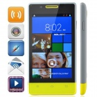 "H3039 MTK6572 Dual-Core Android 4.2.2 WCDMA Bar Phone w/ 4.0"" / GPS / Wi-Fi / FM - Grey + Yellow"