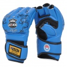 WOLON PU Boxing Fighting Gloves - Blue (Pair)