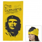 Che Guevara Pattern Outdoor Sports Quick Drying Magic Head Scarf - Yellow + Black