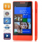 "H3039 MTK6572 Dual-Core Android 4.2.2 WCDMA Bar Phone w / 4,0 ""Kapazitive / GPS / Wi-Fi / FM - Red"