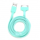 USAMS USB Male to Apple 30 Pin Male Data Sync & Charging Flat Cable for iPhone 4S / 4 - Light Green