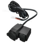 Waterproof USB Charging Dock Station Set for Cellphone / GPS / Motorcycle + More - Black