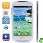 "i9600 MTK6572 Android 2.3.6 GSM Bar Phone w/ 5.0"", Quad-Band, FM and Wi-Fi - White + Blue"