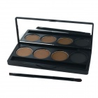 Makeup 4-Color Eyebrow Powder - Multicolored