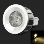 3w 70lm 3500k MR11 Warm White LED Spotlight Lamp - Silver + White