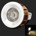3w 70lm 3500k MR11 Warm White LED Spotlight Lamp - Golden + silver