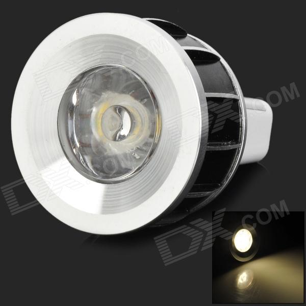 3w 70lm 3500k MR11 Warm White Spotlight Lamp - Black + White + Silver