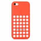 Stylish Hollow Out Plastic Silicone Back Case for Iphone 5C - Red