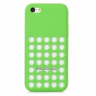 Stylish Hollow Out Silicone Plastic Back Case for Iphone 5C - Green
