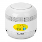 KUBEI 298 Portable Wireless Bluetooth V2.1 Mini Speaker w/ FM Radio / AUX - White