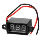 "Jtron 0.28"" LED 3-Digital Display Voltmeter - Black (3.50~30.0V)"