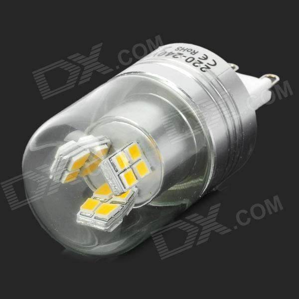 Lexing LX-YMD-041 3w 230lm 3500k G9 SMD-2835 Warm White Corn Lamp - Silver + White + Transparent