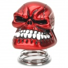Skull Head Style Spring Car Decoration - Red + White