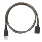 Unitek Y-C428 USB Male to Female AM-AF Shielded Extension Cable - Black (100cm)