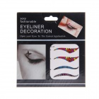 KC-48 Fashionable Charm Cosmetic Colorful Double-Eyelid Stickers - Multicolored (4-Pair)