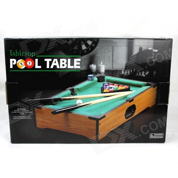 Desktop Mini Mini Pool Snooker Table Game Set - Green (Size M) a game for all the family