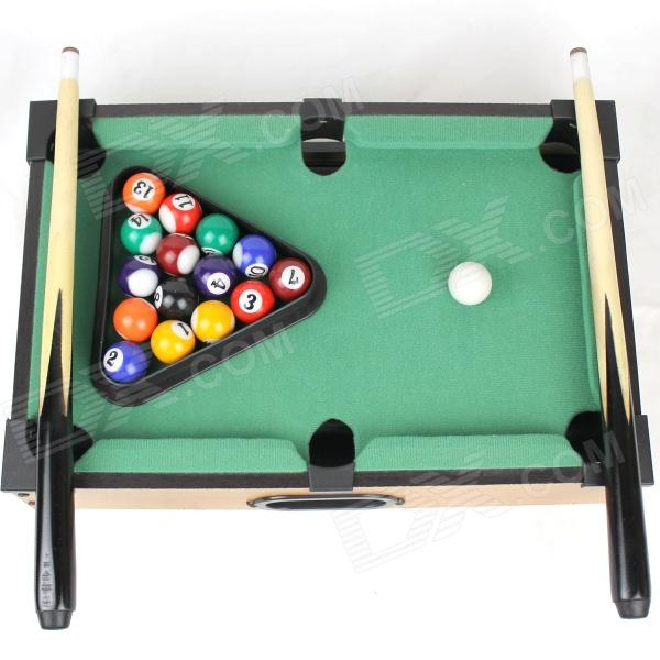 Desktop Mini Mini Pool Snooker Table Game Set Green Size M - Mini billiards table set