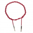 Woven Rope 3.5mm Audio Male to Male Connection Cable - Red (102cm)