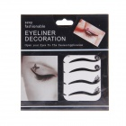 KC-15 Fashionable Charming Cosmetic Double-Eyelid Stickers w/ Rhinestone - Black