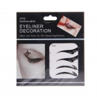 KC-27 Fashionable Charming Cosmetic Double-eyelid Stickers w/ Rhinestone - Black