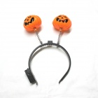 Halloween double flash LED de couleur Pumpkin Head Hoop - Noir + Orange (3 x AG13)